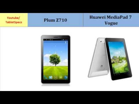 Plum Z710 to Huawei MediaPad 7 Vogue, Quick Comparison