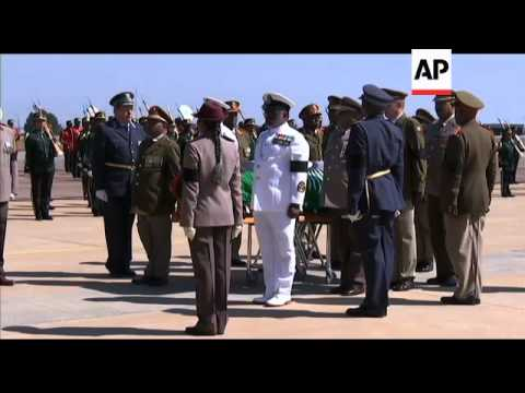 Former Malawian president''s body repatriated to Lilongwe for funeral