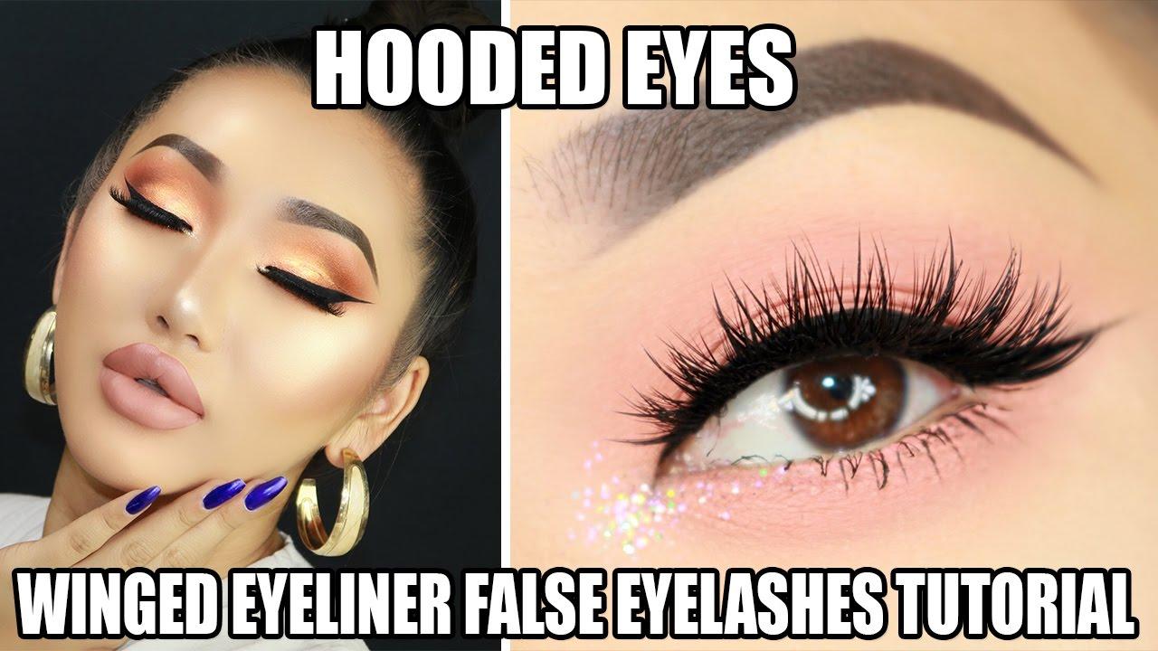 Easy Steps To Apply False Eyelashes And Eyeliner For Hooded Eyes