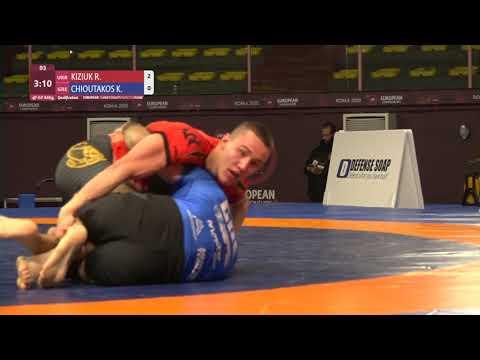 Qual. Men's GP No-Gi - 84 kg: R. KIZIUK (UKR) v. K. CHIOUTAKOS (GRE)