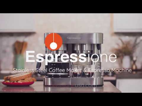 Espressione Stainless Steel Combination Espresso Machine 10 Cup Drip Coffee Maker Youtube