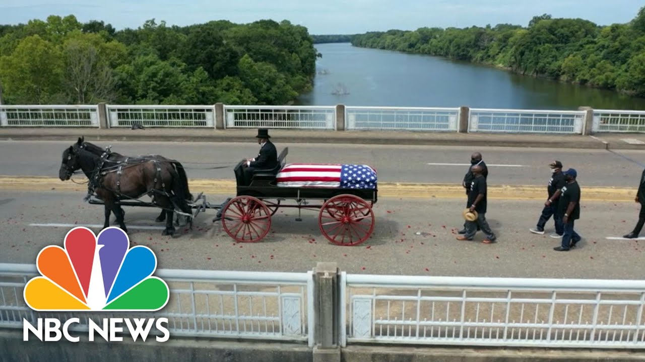 Watch: John Lewis' Coffin Makes Final Selma Bridge Crossing | NBC News