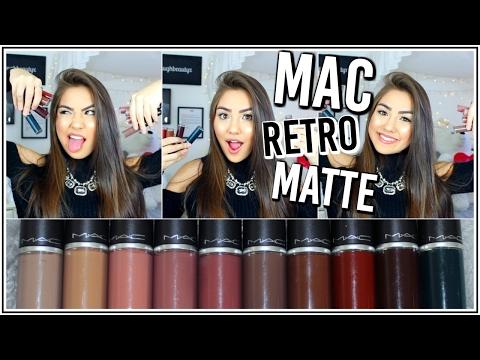MAC Retro Matte Liquid Lipstick Review & LIP SWATCHES! ♡ Adyel Juergensen