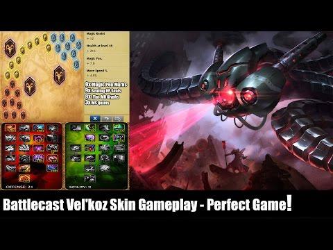 LOL: Battlecast Vel'koz Skin Gameplay - Perfect Game!
