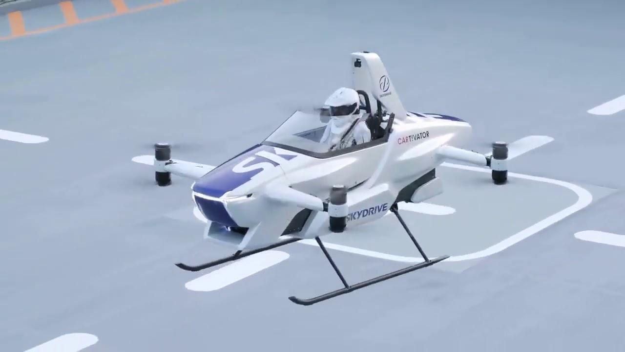 Carro voador faz voo de 4 minutos em teste no Japão; assista