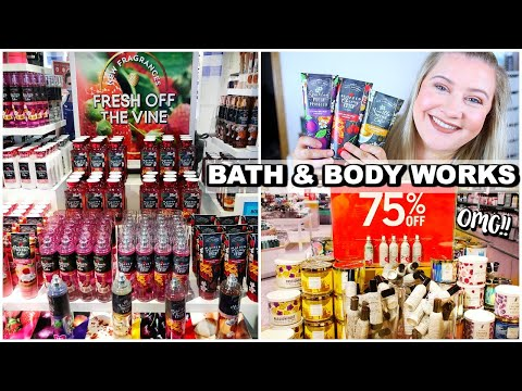 BATH & BODY WORKS FALL SHOP WITH ME - FARMHOUSE CAFE COLLECTION + TONS OF 75% OFF CANDLES!!