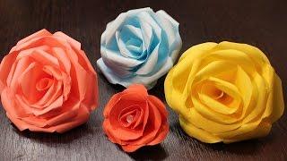 РОЗА ИЗ БУМАГИ как сделать за 5 минут пошагово/Paper Rose origami