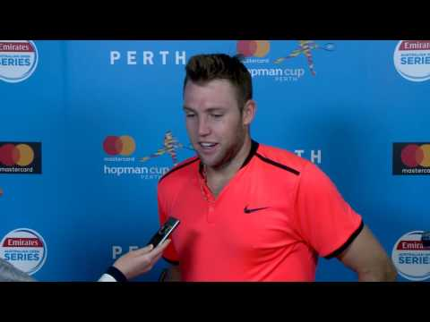 Jack Sock press conference (RR) - Mastercard Hopman Cup 2017