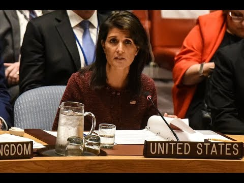 WATCH: U.N. Amb. Haley holds news briefing in New York City
