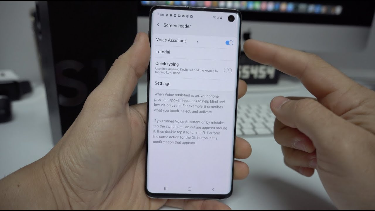 How to Disable / Turn OFF TalkBack on a Samsung Galaxy S10