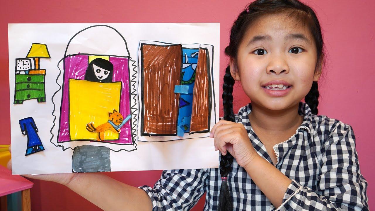 Bé Bún Làm Giường Ngủ Cho Bạn Gái Bằng Giấy Thủ Công   DIY Paper Crafts