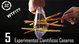 5 Increíbles Experimentos Que Puedes Realizar En Casa ▶2 || Experimentos Caseros