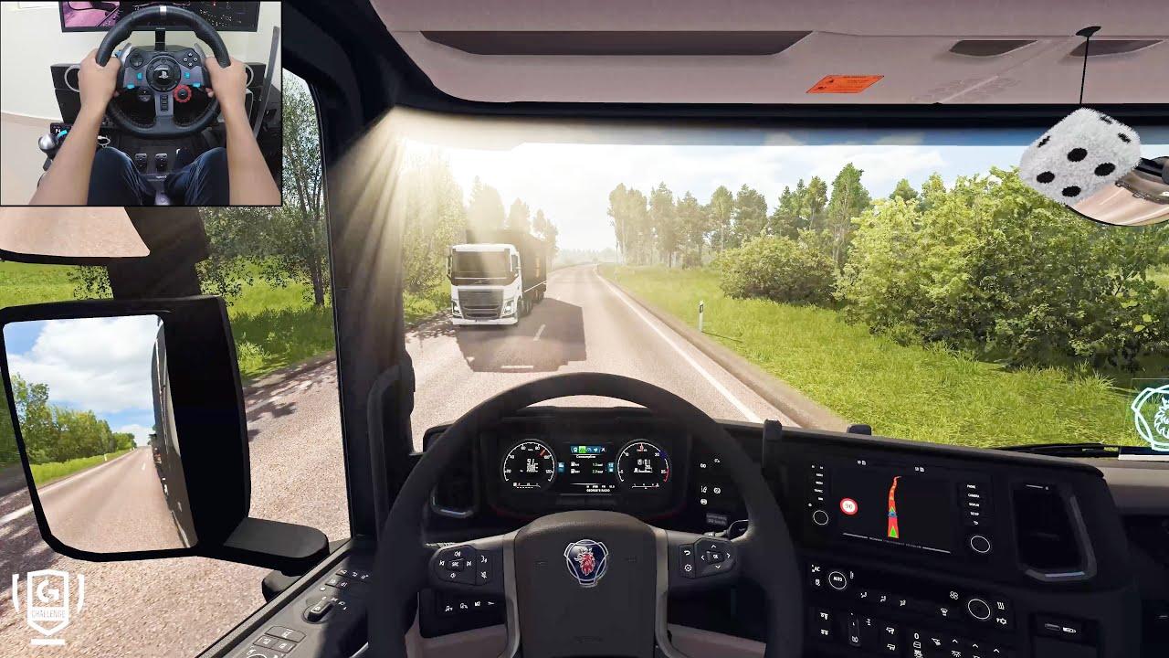Download Scania S730 - To Riga | Euro Truck Simulator 2 | Logitech g29 gameplay