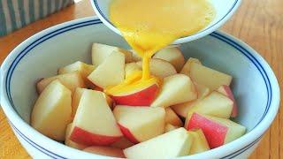 【小穎美食】蘋果裡加2個雞蛋,不油炸,不烙餅,筷子攪一攪,出鍋瞬間被掃光!