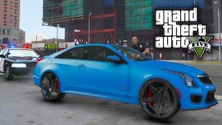 "GTA 5 Real Hood Life #9 Cadillac ATS-V on 26"" Vossen! (GTA 5 Hood Life Mods)"