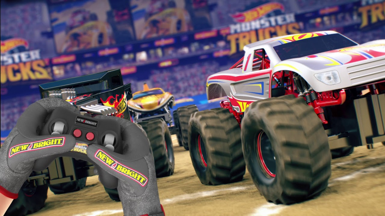 New Bright R C Monster Trucks Featuring Hot Wheels Racing 1 Youtube