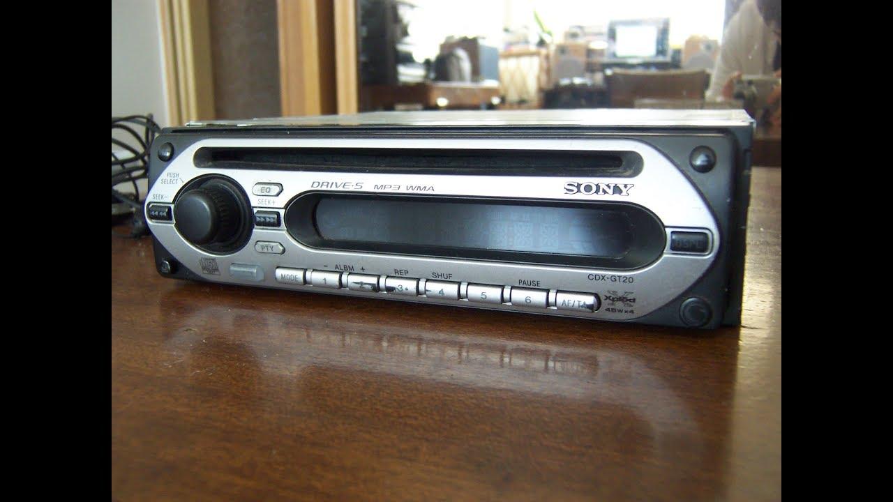 Wybitny SONY CDX-GT20 XPLOD CD/MP3 Radio samochodowe - YouTube NI32