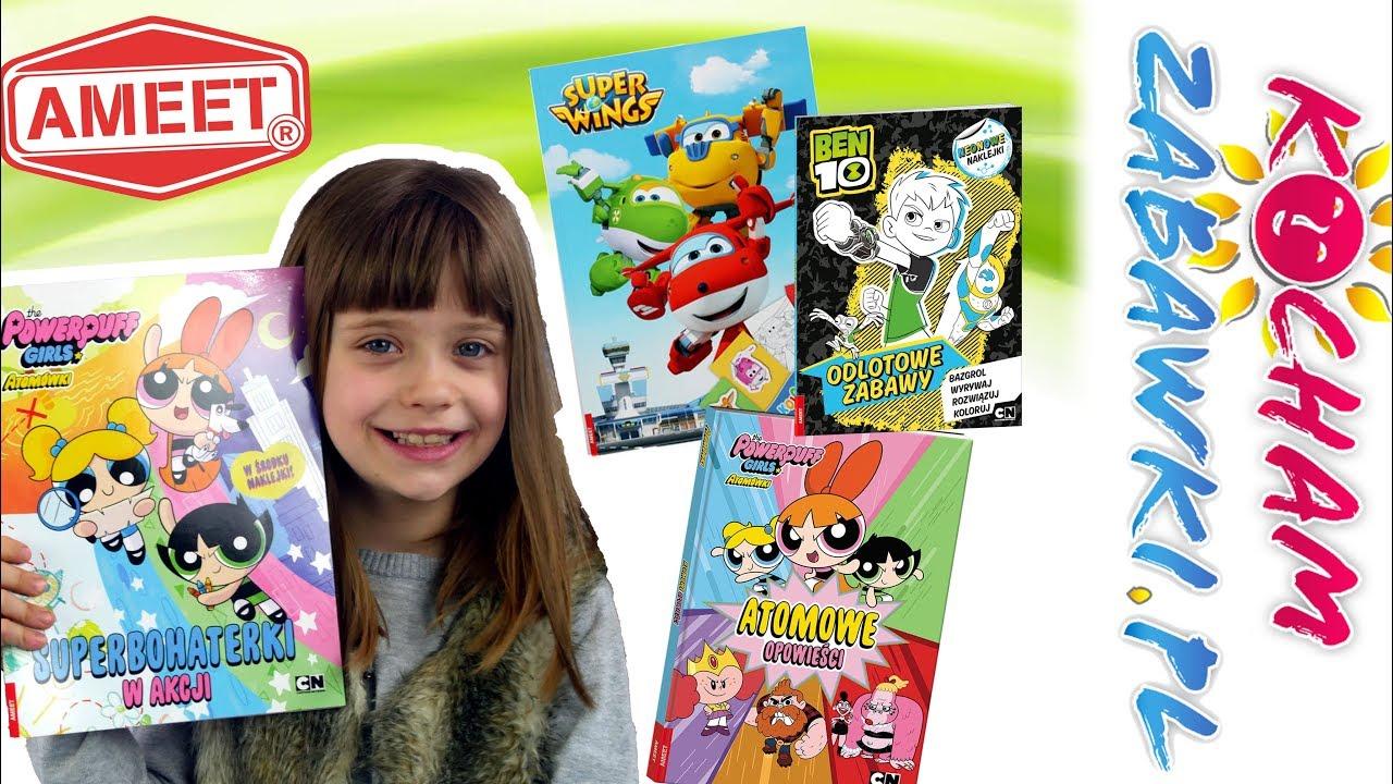 AMEET • Książki z zagadkami • Atomówki & Ben 10 & Super Wing & Barbie & Kraina Lodu • openbox