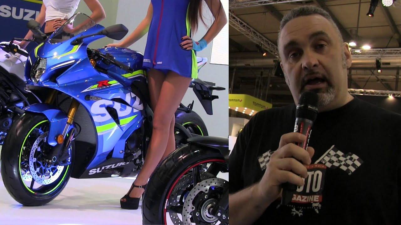 gsx r 1000 sv 650 suzuki pr sente ses nouveaut s moto 2016 au salon de milan 2015 youtube. Black Bedroom Furniture Sets. Home Design Ideas