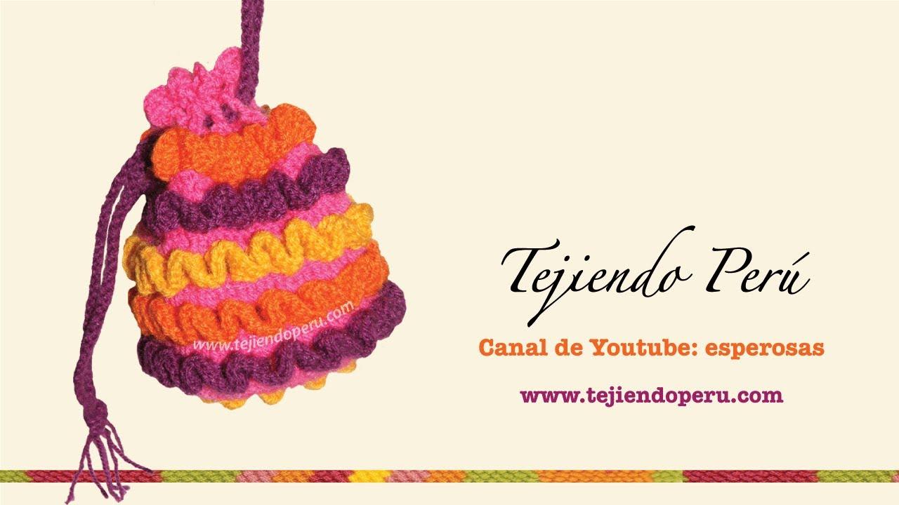 Cómo tejer un bolso a crochet con ondas en relieve (wiggly crochet ...