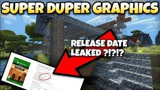 Minecraft - SUPER DUPER GRAPHICS - RELEASE DATE LEAKED ?!?!? Bedrock / Java / Console