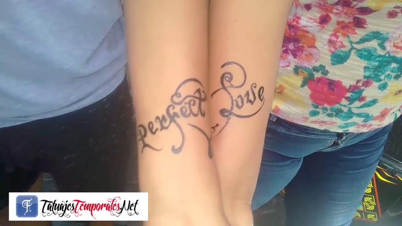 Tatuajes Temporales Badabun regalo para enamorados en tatuajes temporales  - youtube