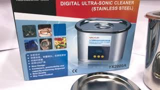 Baixar YAXUN YX2000A ULTRASONIC CLEANER 35W/50W RS 2150/- WhatsApp :9830833133
