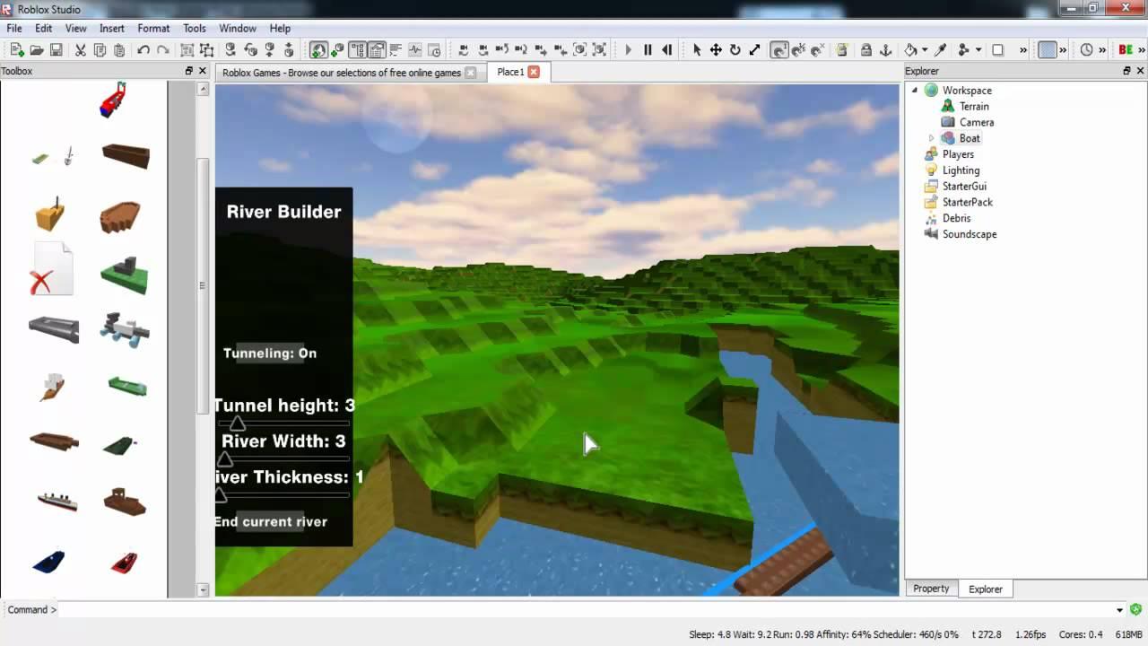 ROBLOX Studio 2 0 Beta Water and Buoyancy YouTube