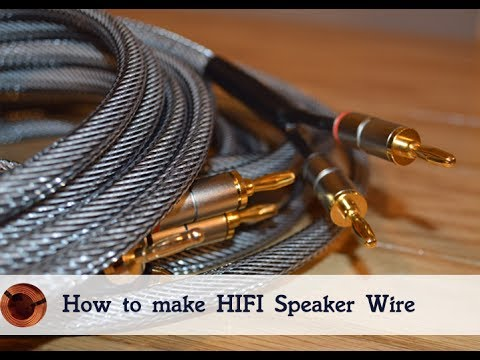 how to make your own hifi speaker wire youtube. Black Bedroom Furniture Sets. Home Design Ideas