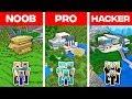 Minecraft NOOB vs PRO vs HACKER: FAMILY MODERN HOUSE BUILD CHALLENGE in Minecraft (Animation)