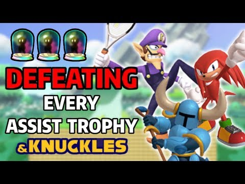 Battling & Defeating Every Assist Trophy in Super Smash Bros. Ultimate & Knuckles