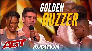NY Subway WAFFLE Dance Crew BLOW UP The Stage Get Simon Cowell&#39s GOLDEN BUZZER!