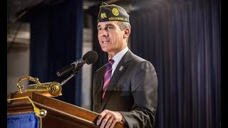 LA mayor joins American Legion