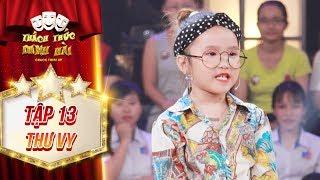 Thách thức danh hài 4 | tập 13: Trường Giang tròn xoe mắt với bé gái mang giọng cười