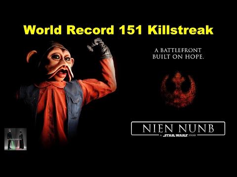 World Record! 151 Nien Nunb Killstreak