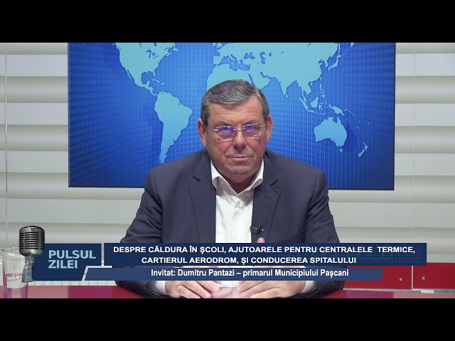 PULSUL ZILEI CU PRIMARUL PANTAZI DESPRE CALDURA IN SCOLI SI AJUTOARELE PENTRU CENTRALE TERMICE