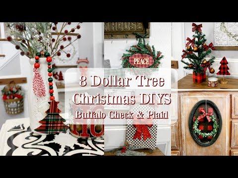 8 DOLLAR TREE CHRISTMAS DIYS | BUFFALO CHECK & PLAID CHRISTMAS DECOR