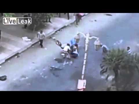 Egypt Riots   APCs shooting at Protesters