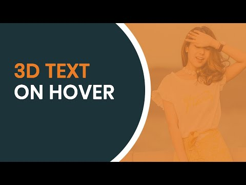 Text Hover Effect with 3D Effect