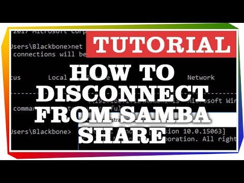 How to Disconnect from Samba Share on Windows 10