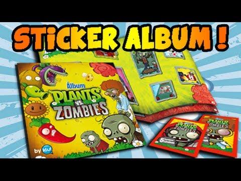 Plants vs. Zombies - Real Life Sticker Album! COMPLETE!