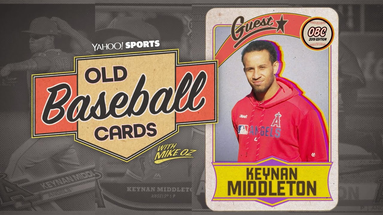 Angels Relief Pitcher Keynan Middleton Talks Facing Childhood Idols Old Baseball Cards