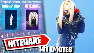 Spend 2000 V-Bucks: NITEHARE Fortnite Skin with all Fortnite Dances + Bunny Hop Emote