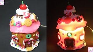 Gingerbread House Fairy Jar/DIY Fairy Lantern/DIY Gingerbread light /Fairy garden/Fairy jar