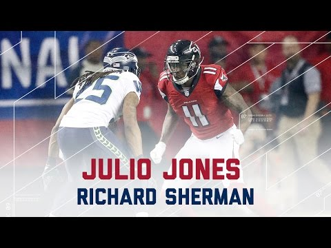 Julio Jones vs. Richard Sherman | Seahawks vs. Falcons | NFL Divisional Player Highlights