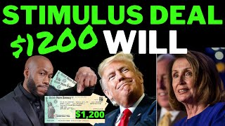 STIMULUS DEAL!! +$1200 Second Stimulus Check Update + Stimulus Package Unemployment Benefits