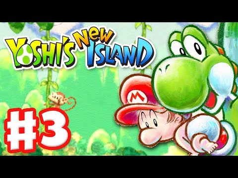 Yoshi's New Island - Gameplay Walkthrough Part 3 - World 3 (Nintendo 3DS)