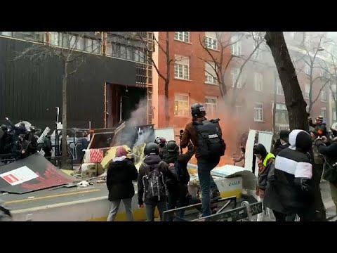 Paris - Brennende Autos und Festnahmen (05.12.2020)