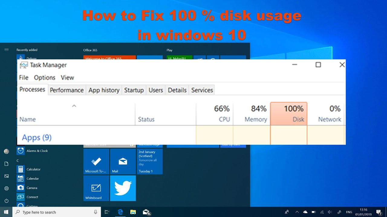 100% Disk Usage in Windows - How to Fix It - YouTube