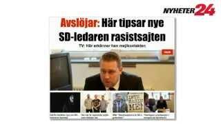 Nyheter24 avslöjar: Även SDU:s William Hahne har tipsat rasistsajter